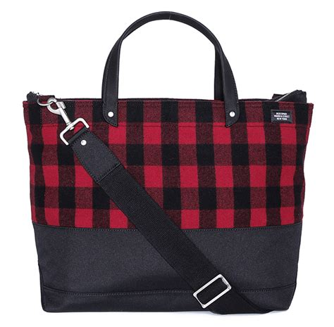 Plaid Bag bag monday spade dipped buffalo plaid utility