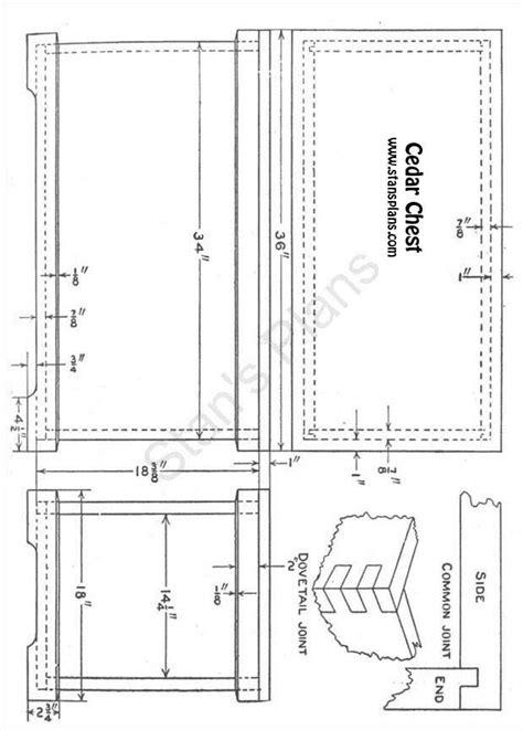 printable plans   cedar chest