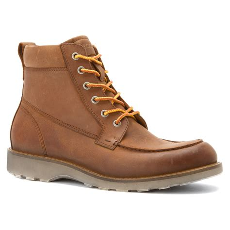 ecco boots lyst ecco holbrok moc toe boot in brown for