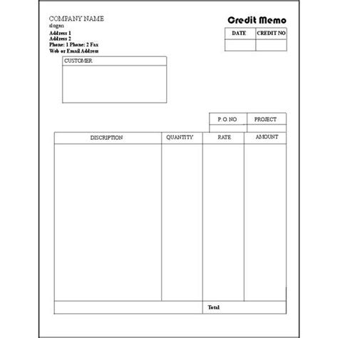 credit note template download free premium templates