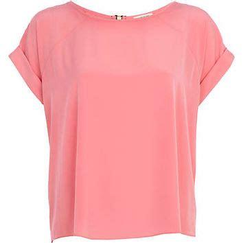 light pink shirt womens light pink raglan sleeve t shirt from river island clothing