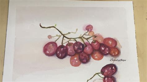 watercolor grapes tutorial how to paint grapes in watercolors doovi