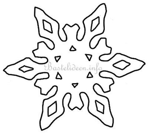 Kostenlose Vorlage Schneeflocke bastelvorlage weihnachten winter schneeflocke 11