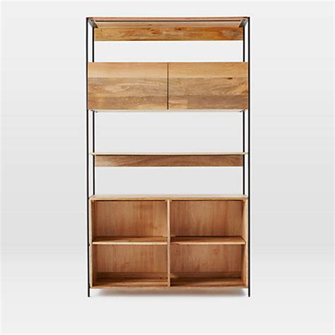 buy west elm industrial modular 124cm open and closed