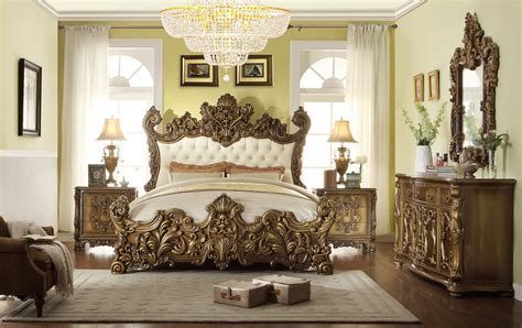 royal bedroom set 5 pc hd 8008 homey design golden royal palace bedroom set