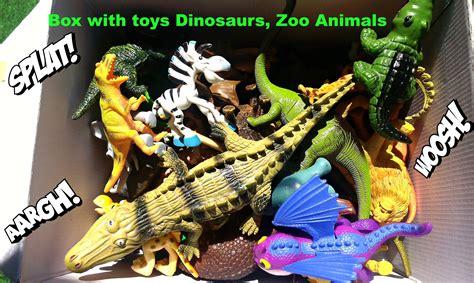 Mainan Animals World Set what s in the box jurassic dinosaurs toys big crocodile