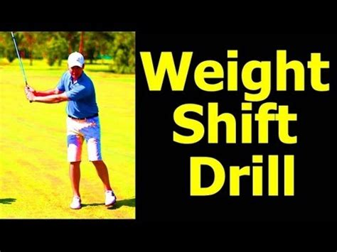 weight shift golf swing drills downswing golf lesson how to move your weight how to