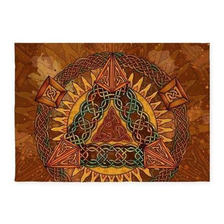 Celtic Pyramid Mandala 5 X7 Area Rug By Artoffoxvox Celtic Area Rugs