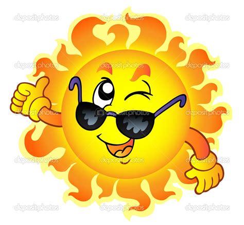 imagenes sol alegre cool cartoon sun with sunglasses