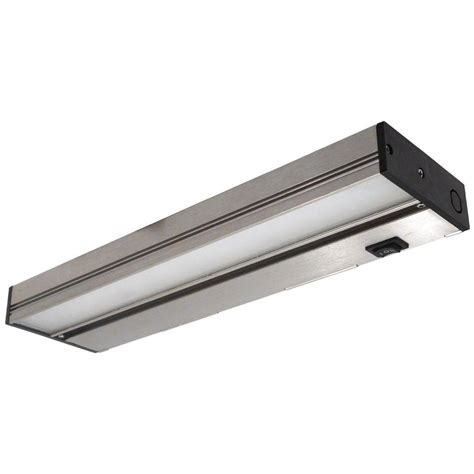 lithonia cabinet lighting lithonia lighting 12 in led brushed nickel cabinet light ucld 12 bn m4 the home depot