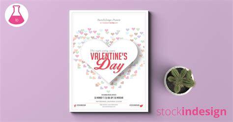 design flyer adobe valentine s day flyer template adobe indesign template
