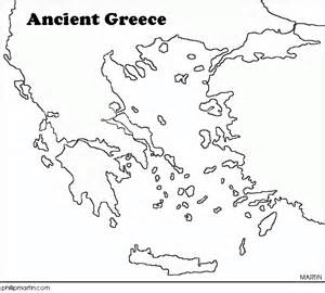 Ancient Greece Blank Map by Greek Mythology 6l Home