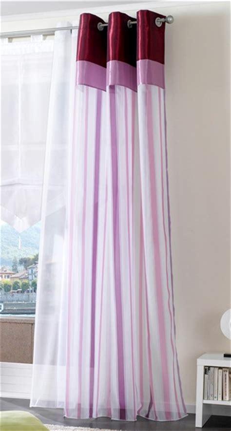 Vorhang Lila by 1 St Gardine Vorhang 140 X 245 Wei 223 Flieder Lila 214 Sen