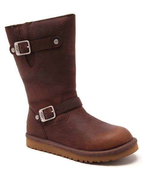 ugg kensington leather boots in toast designer footwear