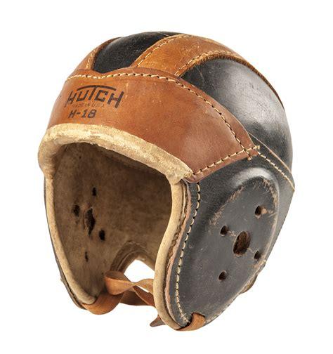 Hutch Football Helmet lot detail 1920 s 30 s leather football hutch helmet