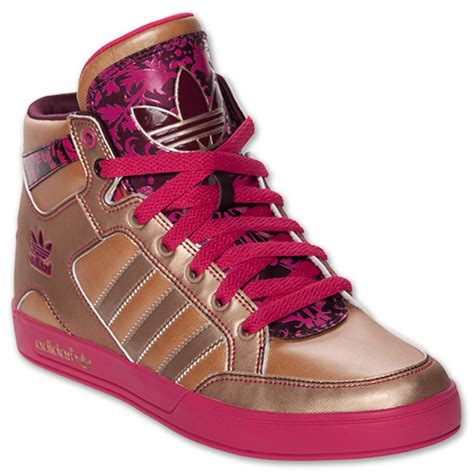 s adidas originals hardcourt hi casual shoes finishline tech gold blast pink light