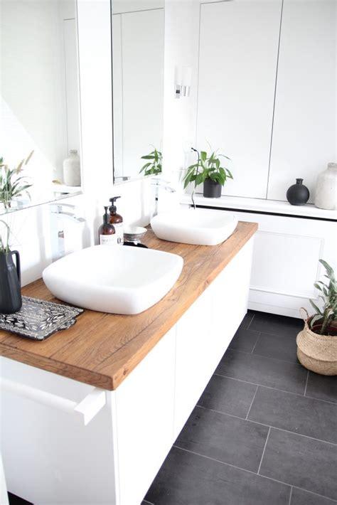 Badezimmer Unterschrank Mit Holzplatte by Badezimmer Selbst Renovieren Vorher Nachher Design Dots