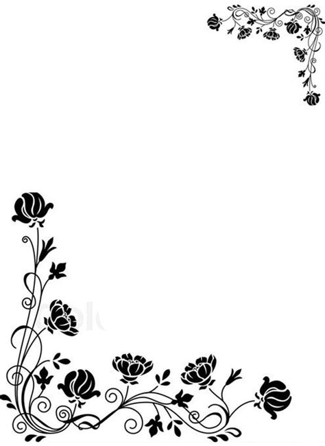Black And White Border Cards Template by 13 Best Border Designs Images On