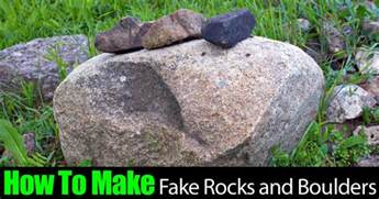 how to make fake landscape rocks and boulders
