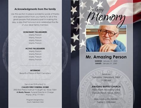 Funeral Template by Funeral Program Templates Maggieoneills
