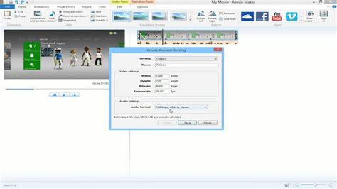 windows movie maker rendering tutorial how to render videos in windows movie maker youtube