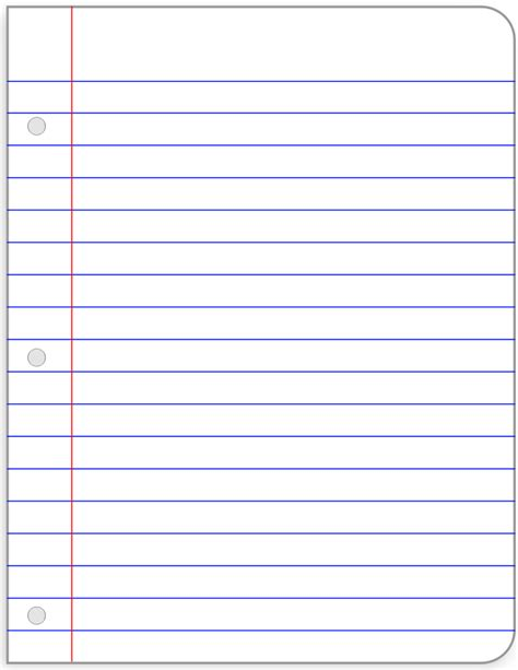 search results for loose leaf lined paper template