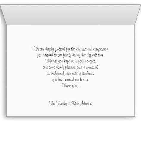 template for thank you card after funeral thank you card wording for funeral happyeasterfrom