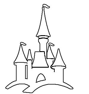 Disney World Castle Outline by Disney Castle Clip Cliparts Co