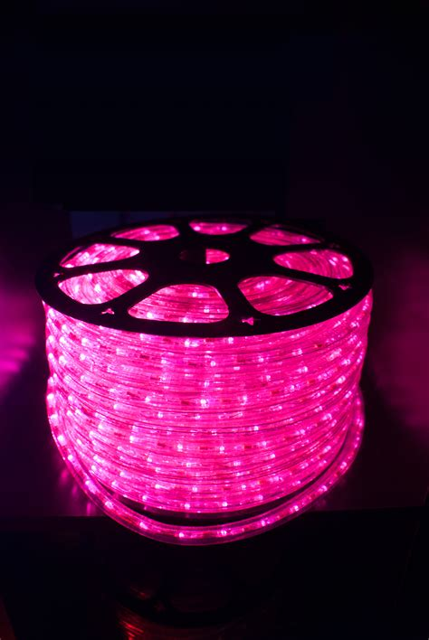 premier pink led ribbon string strips rope lights full set