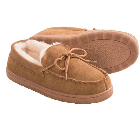 where house shoes lamo footwear classic moccasin slippers for women save 65