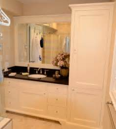bathroom vanity tower maple vanity with linen tower