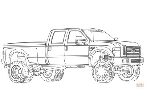 ford trucks coloring page lifted ford truck coloring pages coloring pages
