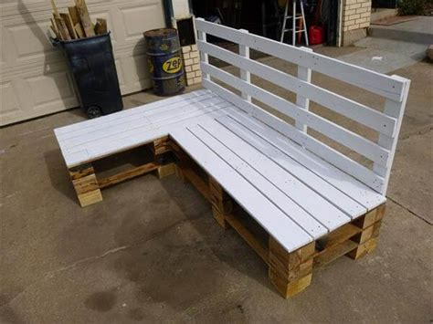 pallet bench diy diy pallet sectional bench pallet furniture diy