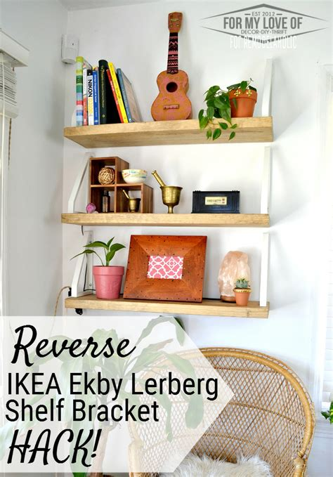 Breket Ekby Lerberg Ikea remodelaholic diy wall shelf ikea ekby lerberg