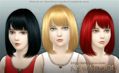 child bob haircut sims 4 cecile child hair at kewai dou 187 sims 4 updates