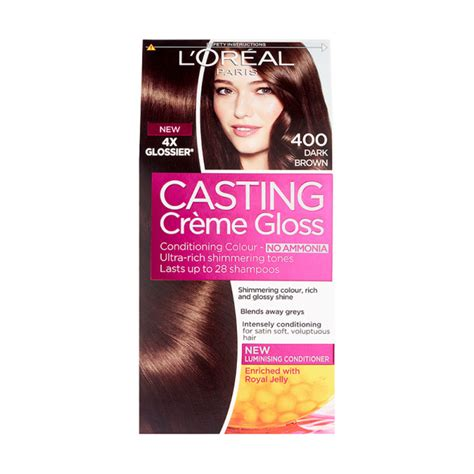 loreal semi permanent hair color buy l oreal creme gloss 400 brown semi