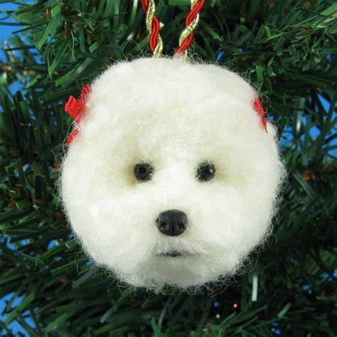 make a bichon frise felt christmas ornament bichon finder