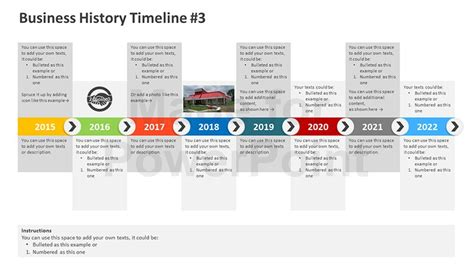 Business History Timeline Editable Powerpoint Template Powerpoint Timeline Templates Free
