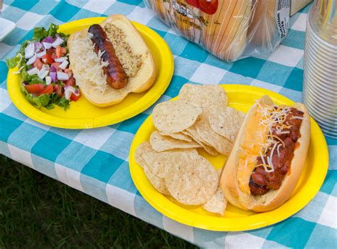 hot dog bar toppings cookout party series hot dog toppings bar blog martin