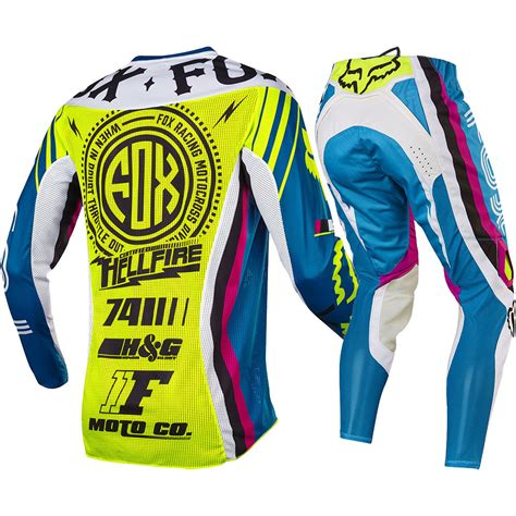 fox motocross suit fox racing 2017 mx new 360 rohr teal flo yellow jersey