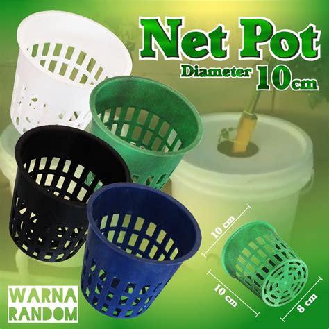 Netpot Lokal Pot Jaring Hidroponik Untuk Tanaman Buah Diameter 10 Cm Net Pot Netpot Besar Lubang Hydroponic Hidroponik