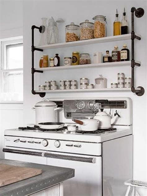 shelves in kitchens industrial eye 40 pipes home decor ideas digsdigs