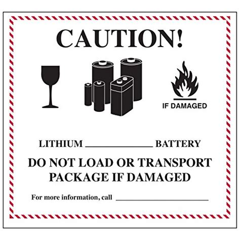 Lithium Ion Battery Label Template Labels Page 2 Of 2 Online Store Global Hazmat