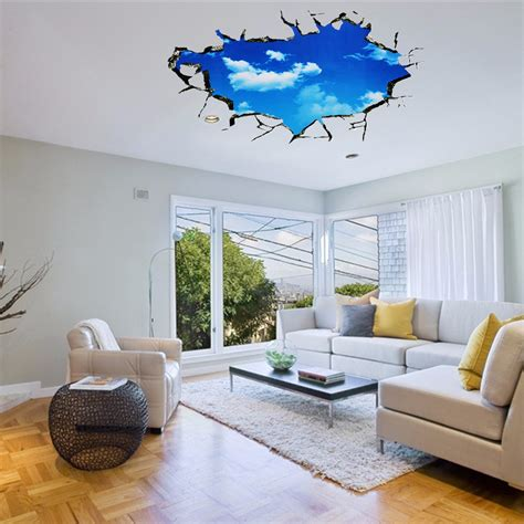 pag blue sky 3d wall decals sticker ceiling sticker