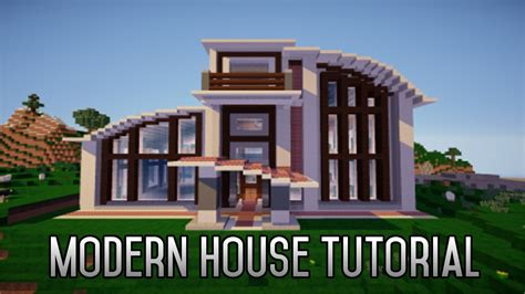 minecraft how to build a modern house 1 8 part 1
