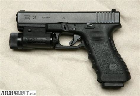 Armslist For Sale Glock 22 With Tactical Light Like New
