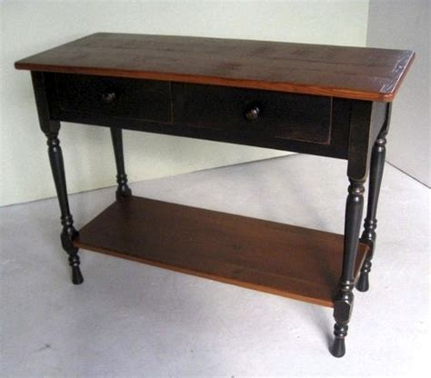 Black Console Table With Drawers 2 Drawer Black Console Table Ecustomfinishes