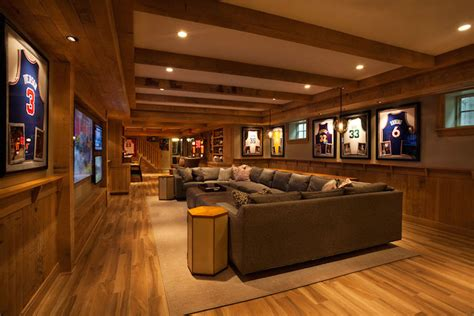 basement man cave transitional basement garrison