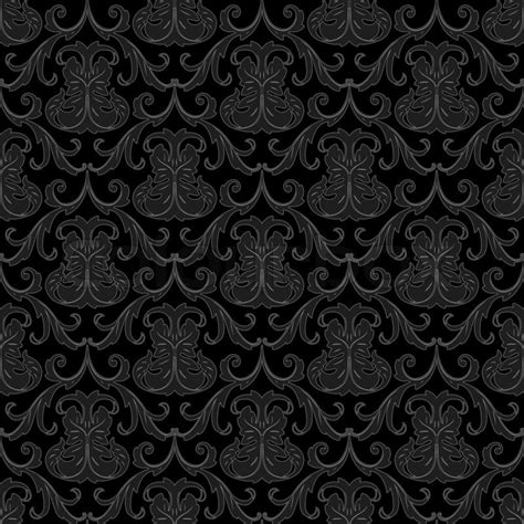 Vignette Home Decor by Seamless Black Wallpaper Pattern Stock Photo Colourbox