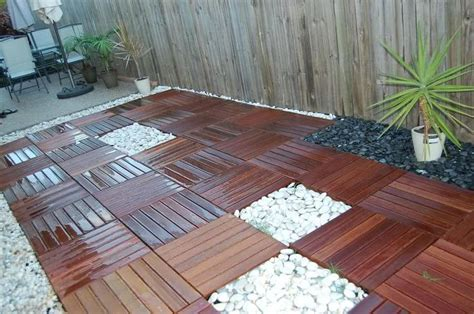 backyard wood patio 16 creative floor designs for homes indoor and outdoor